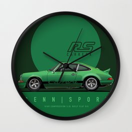 1973 RS Carrera Tribute Viper Green Clatus Severyn Wall Clock
