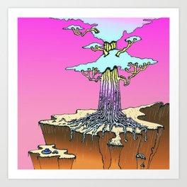 Acid Tree Art Print