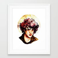 grantaire Framed Art Prints featuring Grantaire watercolour by chazstity