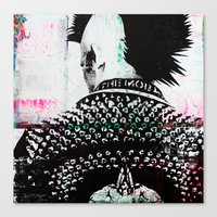 punk Canvas Prints featuring PUNK by Taylor Callery Illustration