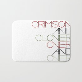 Crimson and Clover Over and Over Bath Mat