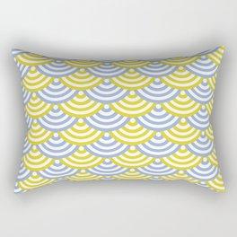 circles_yellow&blue Rectangular Pillow