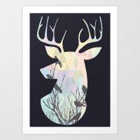 GEO STAG Art Print