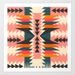 Colorful ethnic decoration Art Print