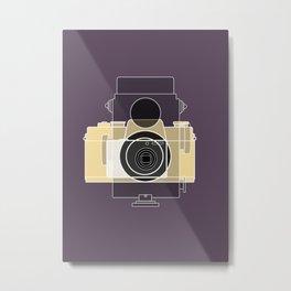 Camera History - yellow Metal Print