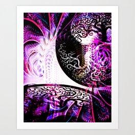 Purple Opposition Art Print