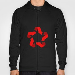 Recycle red star Symbol of new communism Hoody