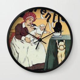 Chocolat Charpentier Wall Clock