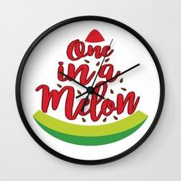 Funny Summer Sun Beach Holiday Fruity Melone Gift Wall Clock
