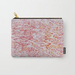 Brushed Red, Yellow, Silver Painting Carry-All Pouch