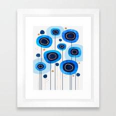 Floral Blues Framed Art Print