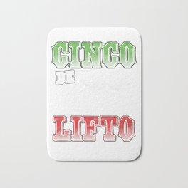 Cinco De Lifto Funny Cinco De Mayo Barbell Weights Mexico Tacos Nacho Lovers Gift Bath Mat