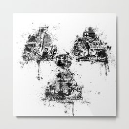 Radioactivity Symbol Metal Print