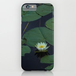 White Lilly Pads  iPhone Case