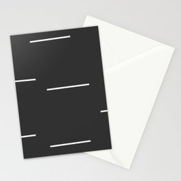 Black Mudcloth white dashes Stationery Cards
