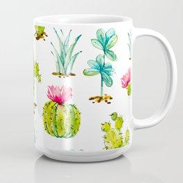 Green Cactus Watercolor Coffee Mug