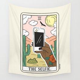 SELFIE READING (DARK) Wall Tapestry