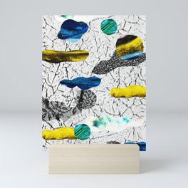 Space collage Mini Art Print