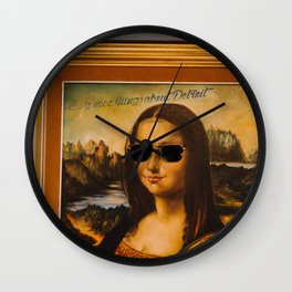 SAY NICE THINGS ABOUT DETROIT Wall Clock