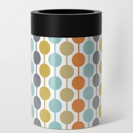 Retro Circles Mid Century Modern Background Can Cooler