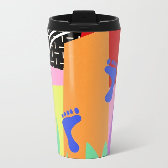 TROPICAL BEACH Metal Travel Mug