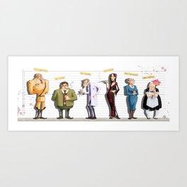 Cluedo Art Print