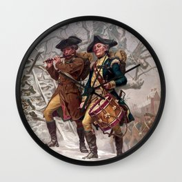 Revolutionary War Soldiers Marching Wall Clock