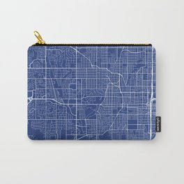 Omaha Map, USA - Blue Carry-All Pouch