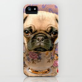 A little pug of tea iPhone Case