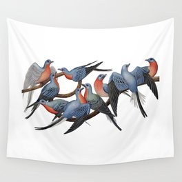 Passenger Pigeons Wall Tapestry