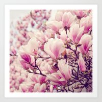 magnolia Art Prints featuring Magnolia by Juste Pixx Photography