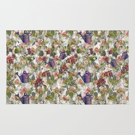 Floral with Watering Can Rug