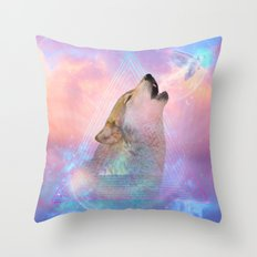 Dream By Day (Wolf Dreams - Remix Series) Throw Pillow