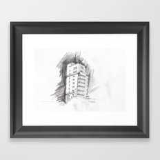 Tagblattturm Stuttgart - pencil Framed Art Print