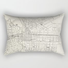 Vintage Map of Syracuse New York (1873) Rectangular Pillow