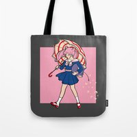 magical girl Tote Bags featuring Salty Magical Girl by eriphyle