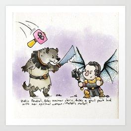 Dungeons & Doodles - Mini Encounters Art Print
