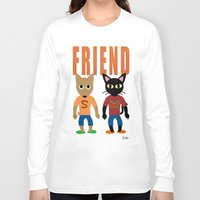 best friend Long Sleeve T-shirts featuring Friend by BATKEI
