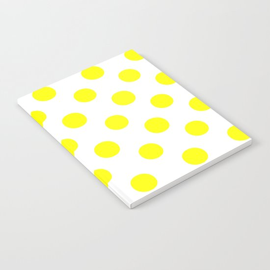 Polka Dots (Yellow/White) Notebook