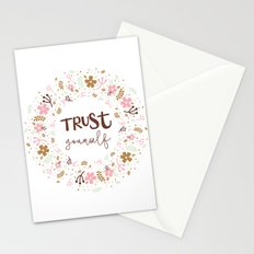 Girly Uplifting Quote – Trust Yourself Stationery Cards