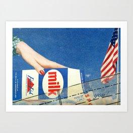 Milking America Art Print