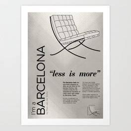 Chairs - A tribute to seats: I'm a Barcelona (poster) Art Print
