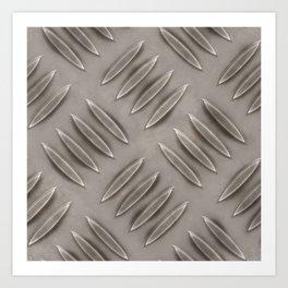 Metal diamond plate Art Print