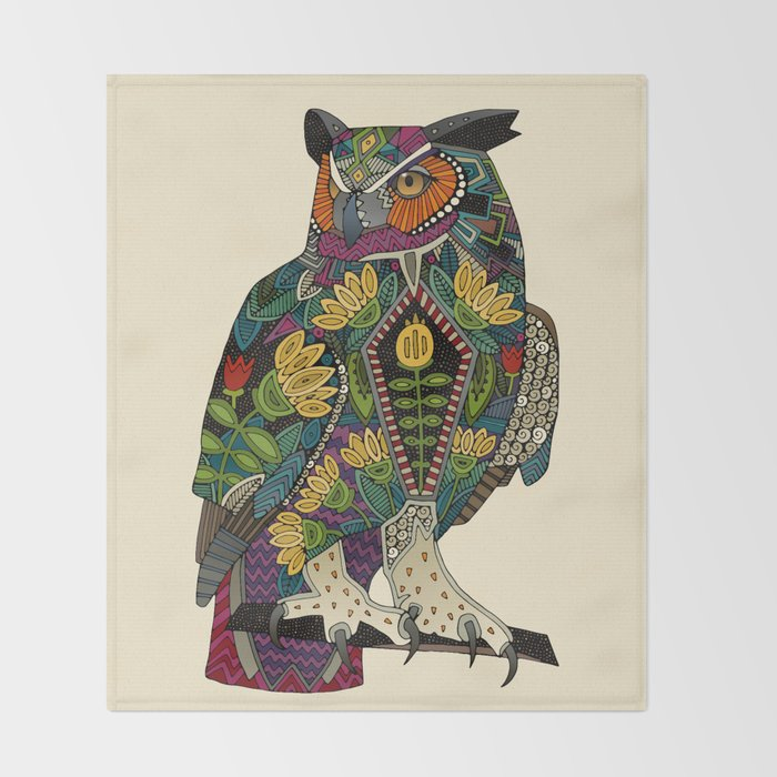 wise owl Throw Blanket