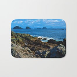 The Pacific Ocean as seen from the Wild Pacific Trail on Ucluelet, BC Bath Mat