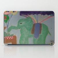 baby elephant iPad Cases featuring Elephant with Baby Elephant by SBHarrison