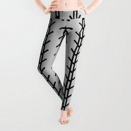 Boho Arrows Never Fail - Light Gray Leggings