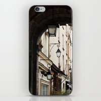 outdoor iPhone & iPod Skins featuring Classic Outdoor Lamps in Paris by Marquis de Noir