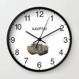 Assault Amphibious Vehicle (AAV) AAVP7A1 Wall Clock