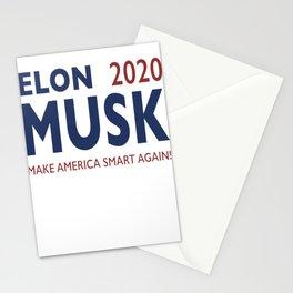 Elon Musk 2020 - Make America Smart Again! Stationery Cards